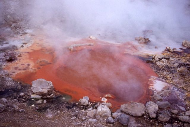 Vermillion Springs - Hot Springs, Mud Volcano area Picture