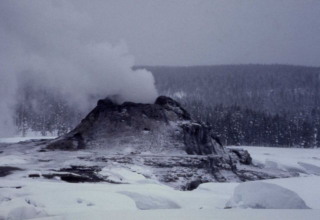 Castle Geyser in winter Picture