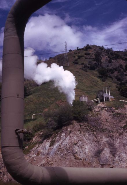 The Geysers - Sonoma Co., California - Steampipe to geothermal plant Picture