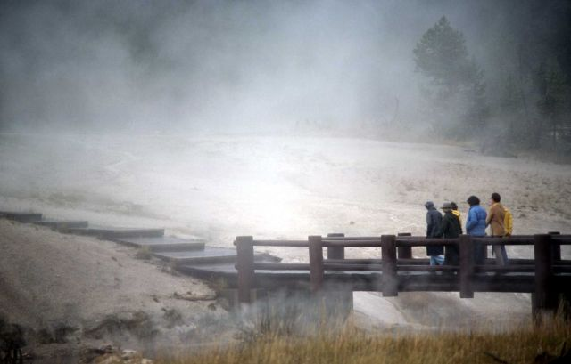 Rainy evening in the Upper Geyser Basin Picture