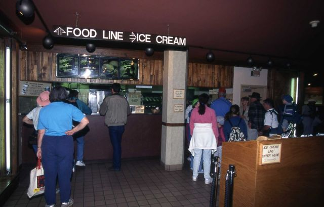 Visitors at Pony Express (fast food & ice cream), Old Faithful Lodge Picture
