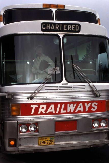 Trailways tour bus Picture