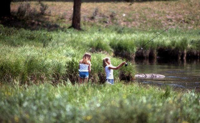 Two girls fishing Picture