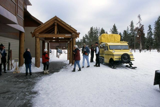 Visitors at Old Faithful Snowlodge Picture