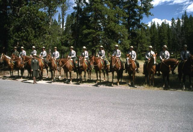 Dedication of the Museum of the National Park Ranger at Norris (mounted rangers with Lorraine Mintzmeyer) Picture