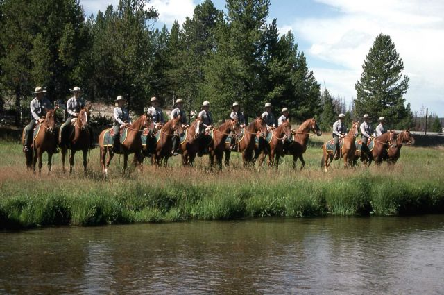 Dedication of the Museum of the National Park Ranger at Norris (mounted rangers) Picture