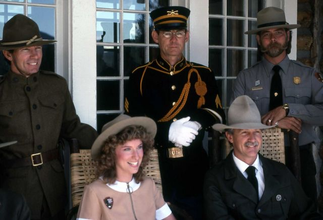 Dedication of the Museum of the National Park Ranger at Norris (historical ranger uniforms) Picture