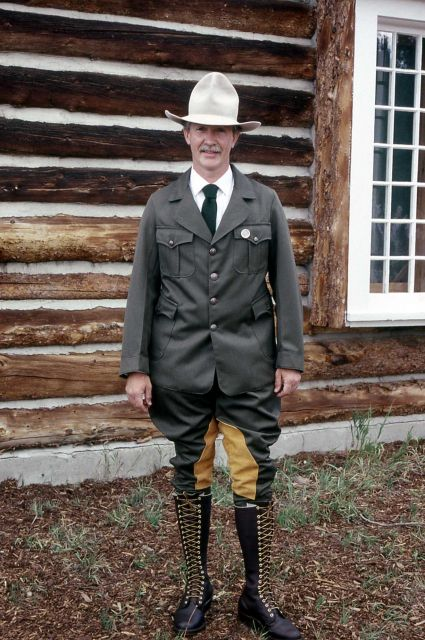 Dedication of the Museum of the National Park Ranger at Norris (Dave Price in historical ranger uniform) Picture