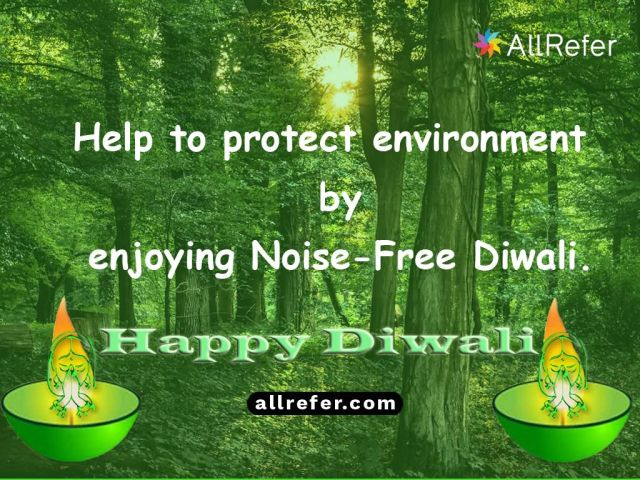 Happy Diwali - Help to protect environment by enjoying a noise-free Diwali Picture