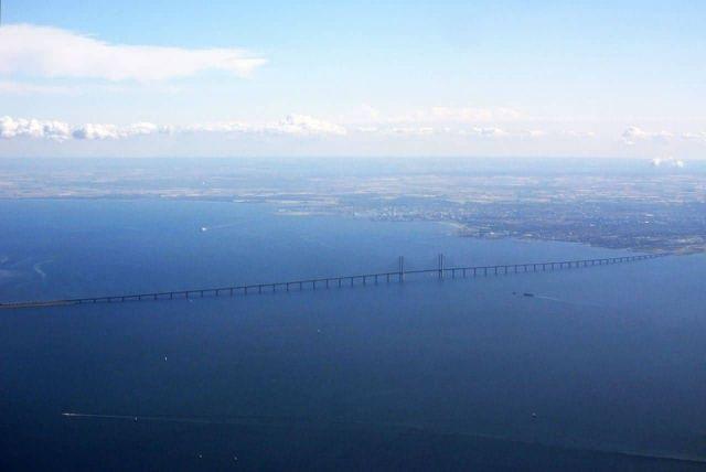 The Oresund Bridge - Denmark to Sweden Picture