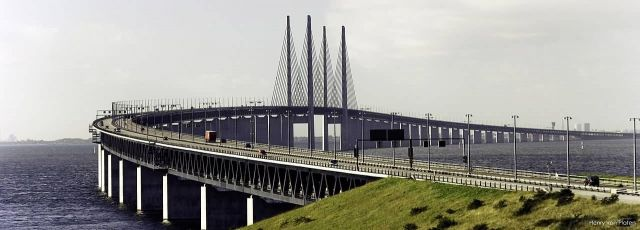 The Oresund Bridge - Denmark to Sweden Picture