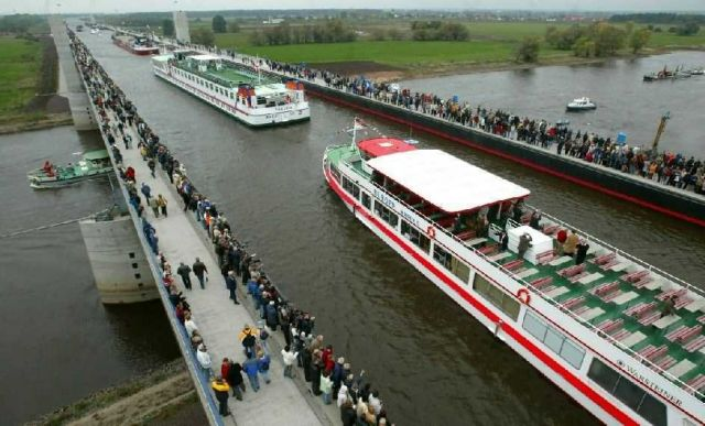 The Magdeburg Water Bridge -Germany Picture