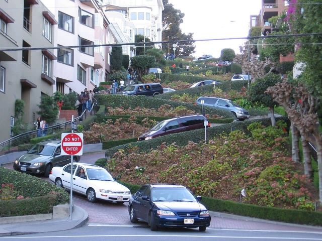 Lombard street - California Picture