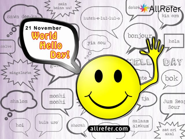 World Hello Day - 21 November Picture