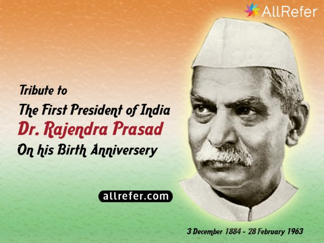 First President of India, Dr. Rajendra Prasad Picture