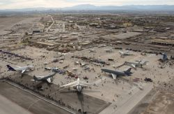 Las Vegas in the distance during Aviation Nation - Aviation Nation at Nellis Photo