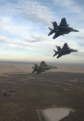 Four-ship formation - Flying over Idaho Photo