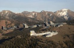 Electronic Control Squadron at Naval Air Station - Flying over Idaho Photo