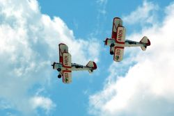 Red Baron Pizza Squadron biplanes - Baron Barnstormers Photo