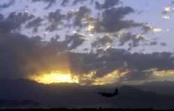 C-130 Hercules - Hercules lifts off Photo