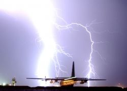 C-130 Hercules - Nature's fireworks Photo