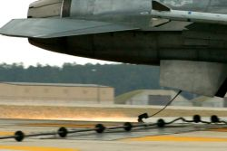 F-16 Fighting Falcon - Arresting system stops aircraft safely Photo