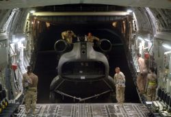 CH-47 helicopter - C-17 cargo load Photo