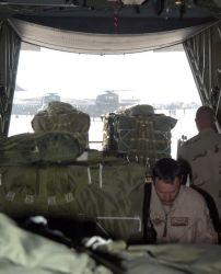 C-130 Hercules - Airdrop in Afghanistan Photo