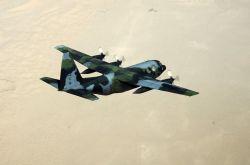 A C-130 Hercules transport aircraft Image