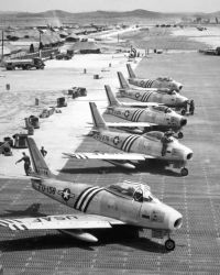 F-86 - F-86 airplanes on the flight line Photo