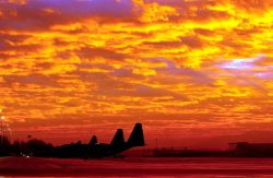 C-130 Hercules - Fire in the sky Photo