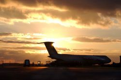 C-5 Galaxy - The sun sets on the Galaxy Photo