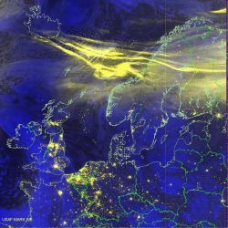 Defense Meteorological Satellite Program - Northern lights Photo