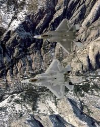 F/A-22 - Raptors from the top Photo