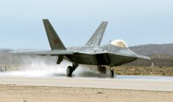 F/A-22 - Wet-runway testing Photo