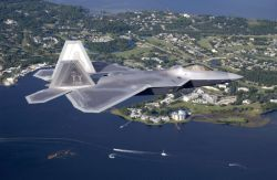 F/A-22 Raptor - Cruising over Florida Photo