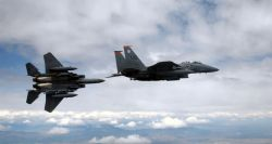 F-15E Strike Eagle - Break left Photo