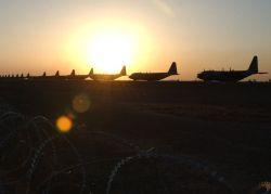 C-130 Hercules - Southwest Asia sunset Photo