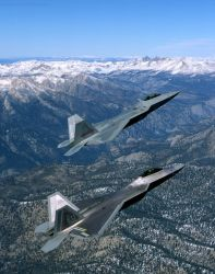 F/A-22 - Raptor pair Photo
