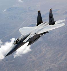 USAFWS - F-15 banking Photo