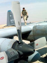 HC-130 Hercules - Post-flight check Photo