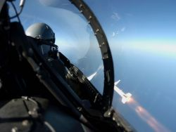 F-16 Fighting Falcon - HARM launched Photo