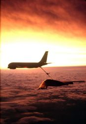 KC-135 Stratotanker - Sunset refueling Photo
