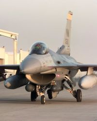 A New Mexico Air National Guard F-16C Fighting Falcon taxis Image