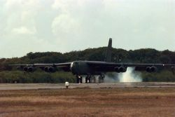 B-52 - a long-range, heavy bomber - Buff landing Photo