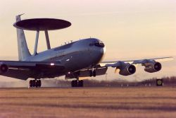 An E-3 Sentry airborne warning and control system (AWACS) Photo