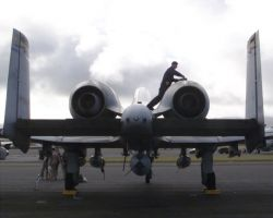 A-10 Thunderbolt II - Post-flight inspection Image