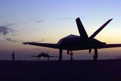 F-117 Nighthawks - Holding Photo