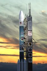 Delta II - Rocket features 9-11 artwork Photo