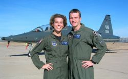 T-38 - Vance couple selected to pilot B-2s Photo